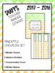 DUFFS Teacher Binder Covers (Pineapple Chevron Premium)