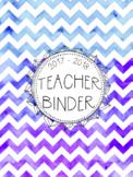 DUFFS Teacher Binder Covers (Purple Ombre Binder Premium)