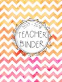 DUFFS Teacher Binder Covers (Summer Sunset Binder Premium)