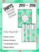 DUFFS Teacher Binder Covers (Teal Palm Binder Premium)