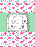 DUFFS Teacher Binder Covers (Watercolor Flamigo Premium)
