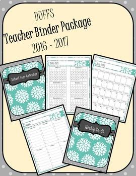 DUFFS Teacher Binder Package (Blue & Gray Basic)
