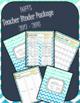 DUFFS Teacher Binder Package (Caribbean Chevron Chevron)