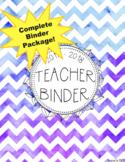 DUFFS Teacher Binder Package (Purple Ombre Chevron)