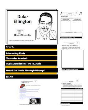 DUKE ELLINGTON: Flip Book - Research Project