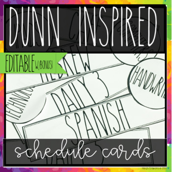 DUNN INSPIRED Schedule cards EDITABLE