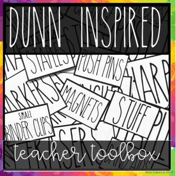 DUNN INSPIRED Teacher Toolbox EDITABLE