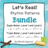 BUNDLE: Let's Read Rhythm Patterns, Levels 1 & 2