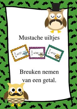 DUTCH - Mustache uiltjes - een breuk nemen van een getal