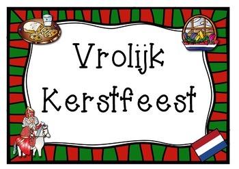 Merry Christmas In Dutch.Dutch Netherlands Theme Merry Christmas 1 Page Poster Vrolijk Kerstfeest