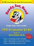 DVD 6 in the Ready, Set, Read: DVD Lesson Series, Lessons 51-60