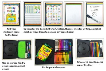 DVD Case Crayon Box Camping Theme