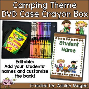 DVD Case Crayon Box Camping Theme