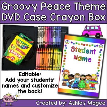 DVD Case Crayon Box Groovy Peace Hippie Theme