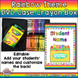 DVD Case Crayon Box Rainbow Crayons Theme