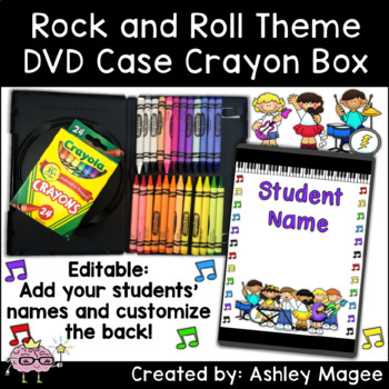 DVD Case Crayon Box Rock and Roll Kids Theme