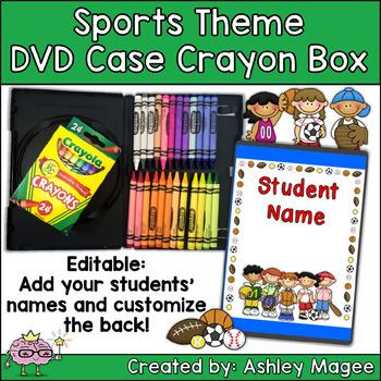 DVD Case Crayon Box Sports Theme