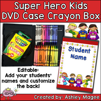 DVD Case Crayon Box Super Hero Kids Theme