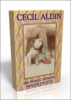 DVD - Cecil Aldin.  260 out-of-copyright images to use for