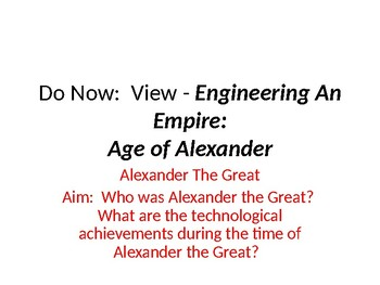 DVD Discussion Questions PP  - Engineering An Empire- Age of Alexander