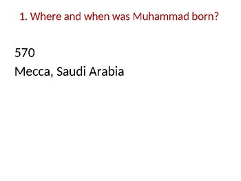 DVD Discussion Questions PP  - Muhammad Biography