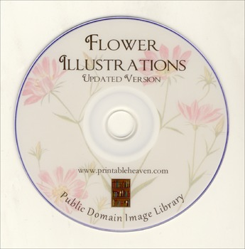 DVD - Flowers. 500 out-of-copyright illustrations on DVD to use for anything!