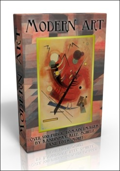 DVD - Modern Art inc. Kandinsky, Klee, Munch. 500 public domain images