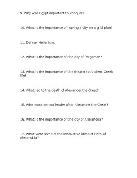DVD Worksheet Questions - Engineering An Empire - Age of Alexander