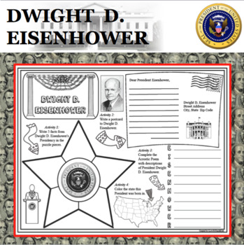 DWIGHT D. EISENHOWER POSTER U.S. President Research Project Biography