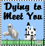 DYING TO MEET YOU!  (43 Old Cemetery Road) by Kate Klise,  KIDS WINGS HALLOWEEN!