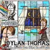 """DYLAN THOMAS, POETRY POSTER, """"DO NOT GO GENTLE INTO THAT GOOD NIGHT"""""""