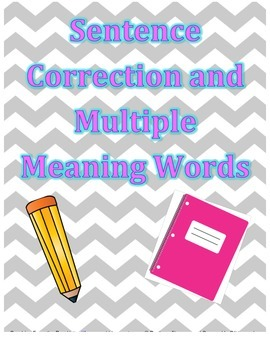 DYNAMIC DUO! Sentence Correction and Multiple Meaning Words {Complete Set}