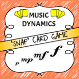 """DYNAMIC """"Snap"""" CARD GAME - Practising the musical dynamics"""