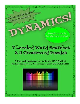 DYNAMICS: 7 Word Searches and 2 Crossword Puzzles