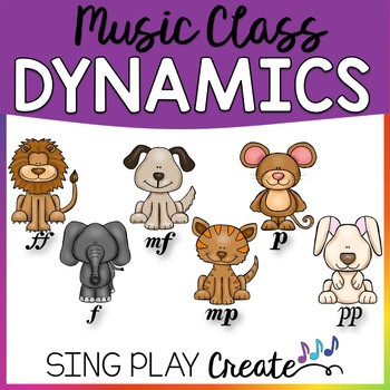 Music Class Dynamics Lesson, Games, Flashcards