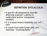 DYSCALCULIA POWER POINT