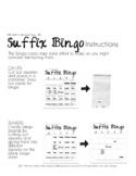 DYSLEXIA RESOURCES: Kits 1-5 SUFFIX BINGO, PDF Print Version