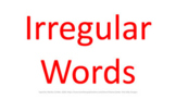 DYSLEXIA RESOURCES: Kits 1-7 typed Irregular Words for screen view, Google Slide