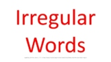 DYSLEXIA RESOURCES: Kits 1-7 typed Irregular Words for screen viewing, PDF