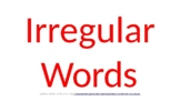 DYSLEXIA RESOURCES: Kits 1-7 typed Irregular Words for screen viewing, WORD