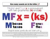 DYSLEXIA RESOURCES: Letter X Pronunciation , 2 graphemes,