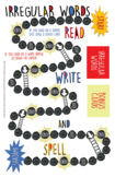DYSLEXIA RESOURCES: READ, WRITE, & SPELL Irregular Words Board Game, Kits 1-7