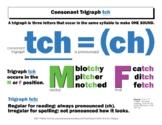 DYSLEXIA RESOURCES: Consonant Trigraph tch, Mini Poster, PDF