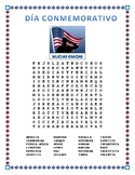 Día Conmemorativo- Memorial Day- Word Search and Cross Word Puzzle