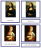 Da Vinci (Leonardo) 3-Part Art Cards - Color Borders