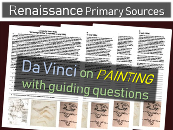 Da Vinci Primary Source (from his notebook) on PAINTING (w guiding questions)
