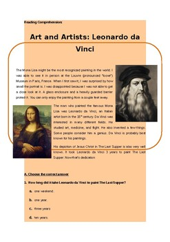 Da Vinci Reading/Writing