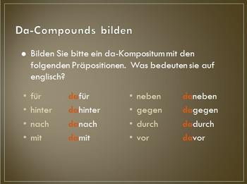 Da- and Wo-Compounds
