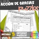Día de Acción de Gracias Vocab Puzzles (Thanksgiving Words