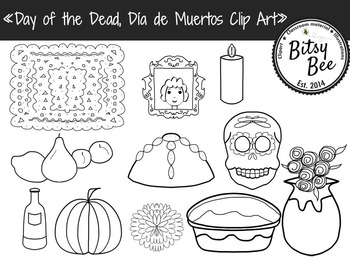 Día de Muertos. Day of the Dead Clip Art.
